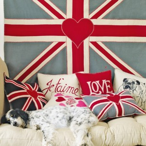 Union Jack cushions