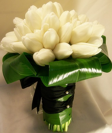 Wedding boquet tulips